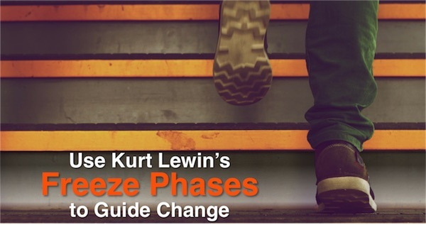 Use Kurt Lewin's Freeze Phases to Guide Change