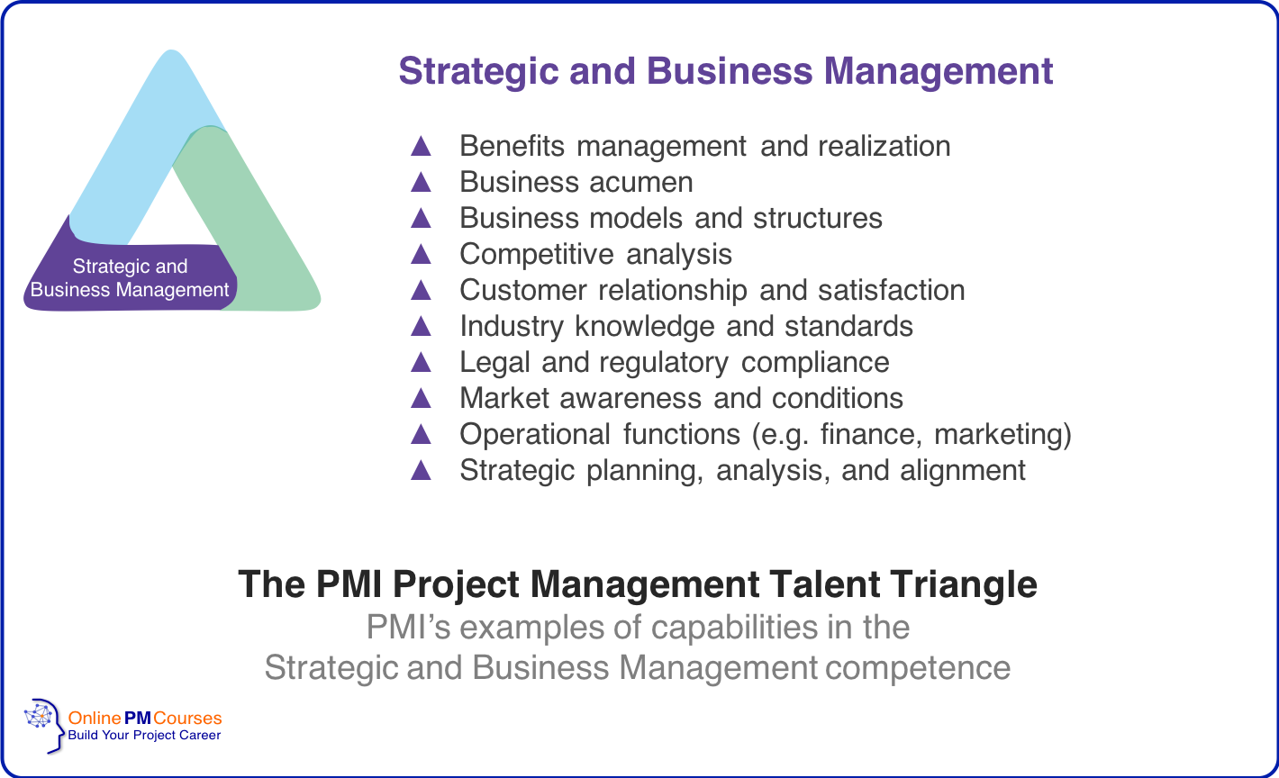 The PMI Project Management Talent Triangle - Strategy and Business Management