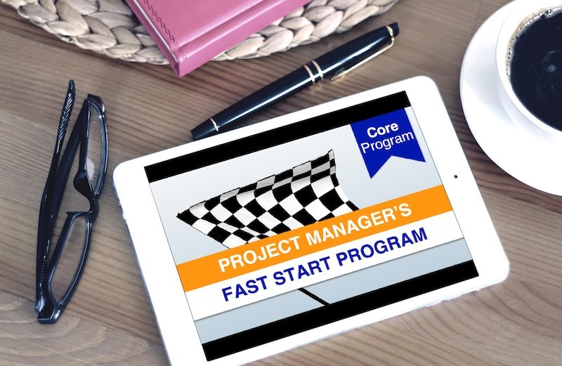 Project Manager's Fast Start Program on a Tablet