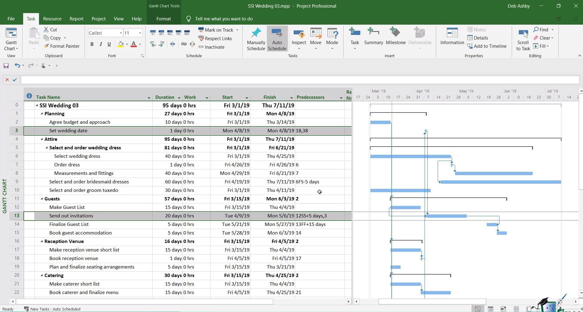Microsoft Project sample screenshot #3